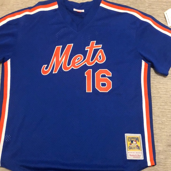 big sale e0888 e5f42 Mitchell and Ness Mets Throwback Jersey